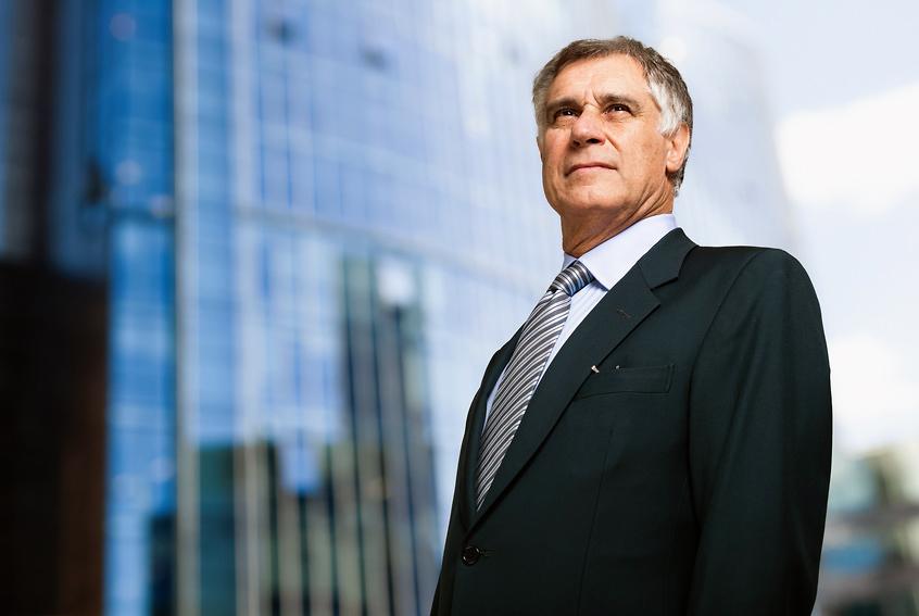 Geschäftsmann in Frankfurt